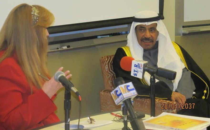 المشاركة في أمسية الشاعر عبد العزيز سعود البابطين في جامعة ميشغن الأمريكية
