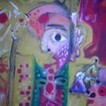 لوحة العدد السادس عشر للفنان الموهوب حيدر سالم اسكندر بعنوان :عوالم من طفولتي