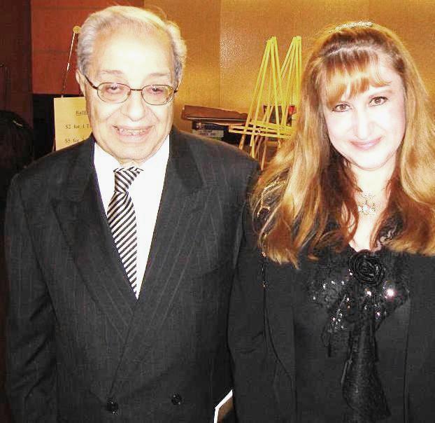 مع  المفكر العربي الراحل د. كلوفيس مقصود في ميشغن